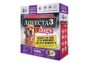 Advecta 3 Flea Drops for Dogs 21 - 55 LBS. 4ct